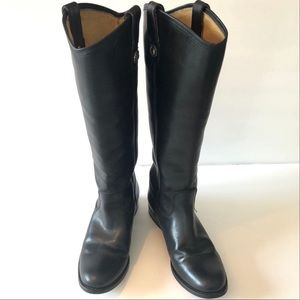 FRYE Melissa equestrian style black boots size 5.5